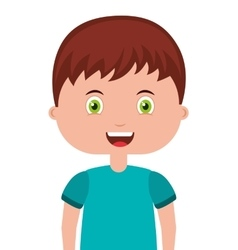 cute little boy isolated icon vector image