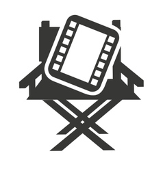 Director chair with cinema icon vector