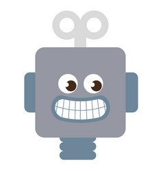 robot electric toy icon vector image