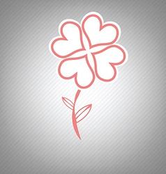 heart flower retro symbol design vector image