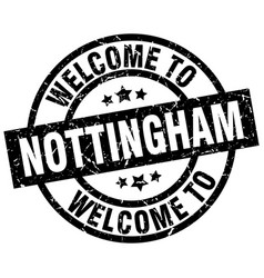 welcome to nottingham black stamp vector image