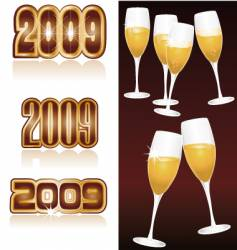 Champagne 2009 vector
