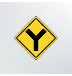 Y intersection icon vector