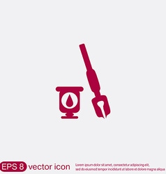Icon pen with ink vector