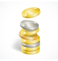 Coin stack vector