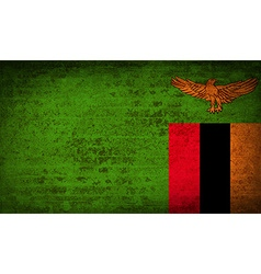 Flags zambia with dirty paper texture vector
