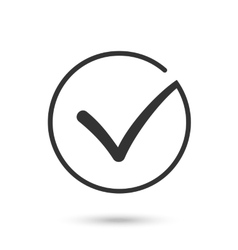Check mark flat icon black button for web vector