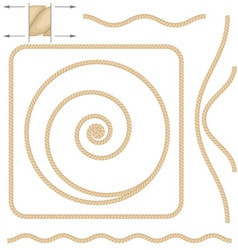 beige rope elements vector image