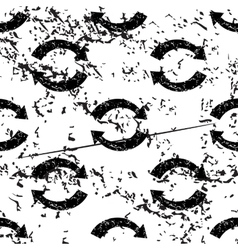Refresh pattern grunge monochrome vector