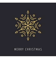 Snowlakes geometric christmas background vector