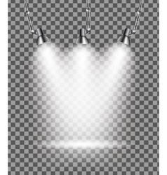 Bright with lighting spotlights lamp vector
