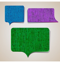 Textured talking bubbles vector