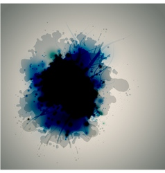 ink on the liquid surface vector image