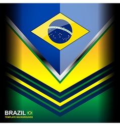 Banner brazil flag color backgrounds vector