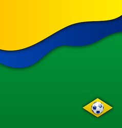 Abstract wavy background in Brazil flag concept vector image vector image