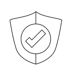 Antivirus shield sign vector