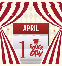 April fools day calendar design vector
