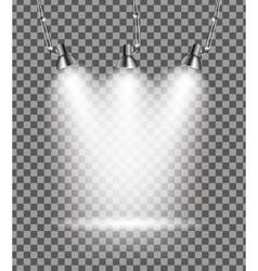 Bright with lighting spotlights lamp vector