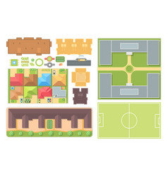 Cityscape elements - set of modern objects vector