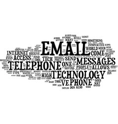 Email to telephone innovative tool or high tech vector