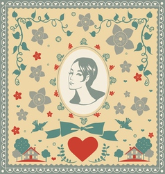 for someone very special postcard vector image vector image