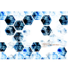 geometric technological digital abstract modern vector image vector image