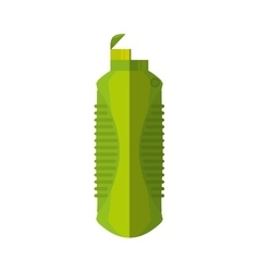 Green plastic bottle water gym element vector
