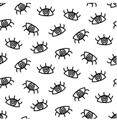 hand drawn eye simple doodles pattern vector image