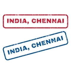 India chennai rubber stamps vector