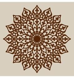 Mandala template for cutting decorative rosette vector