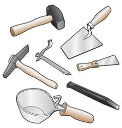 Mason tools vector image vector image