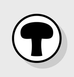 Mushroom simple sign flat black icon in vector