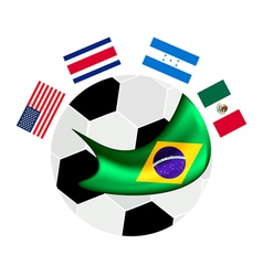 North america qualification in a brazil 2014 vector