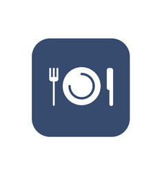 plate with fork and knife restaurant menu icon vector image vector image