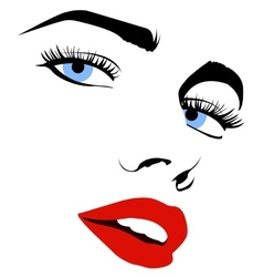 Pretty woman face vector image vector image