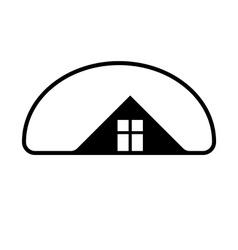 Property developer stylish estate agency symbol vector