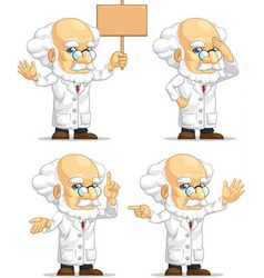Scientist or professor customizable mascot 8 vector