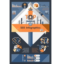 Seo infographics set vector