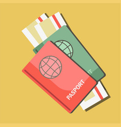 Summer travel or holiday vacation passports vector