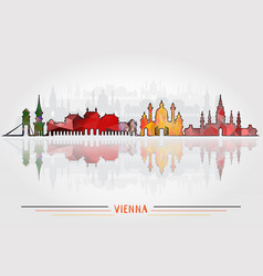 vienna city background vector image vector image