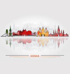 vienna city background vector image