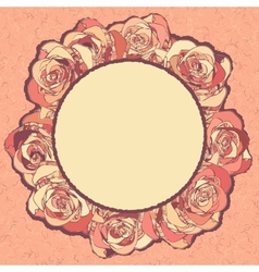 Vintage roses ornaments vector
