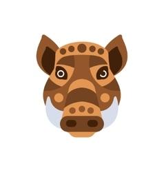 Wart hog african animals stylized geometric head vector
