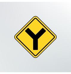 Y intersection icon vector