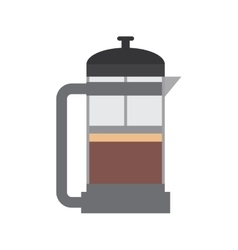 Drink coffee kettle pot beverage icon vector