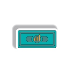Bar graph on banknote in paper vector
