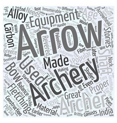 Archery equipment word cloud concept vector