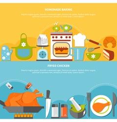 Homemade Culinary Flat Horizontal Banners vector image