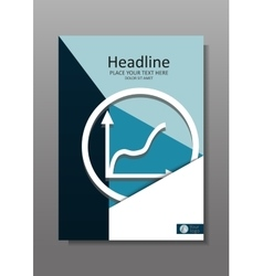 Business cover design a4 with rise graphic vector