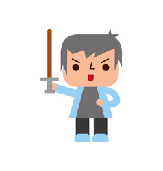 avatar of a video game warrior with sword vector image